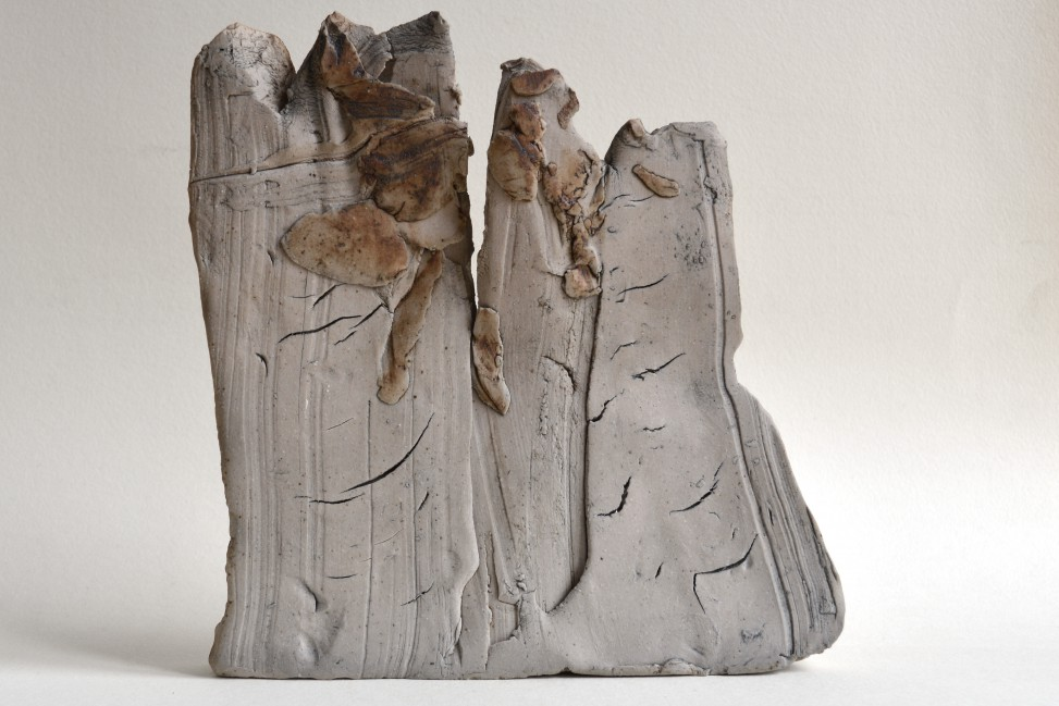 two strangers meet in the street ceramic sculpture